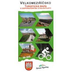 Velkomeziříčsko - Turistická mapa s doporučenými cyklov...