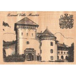 Dřevěná pohlednice Zámek Velké Meziříčí No. 114